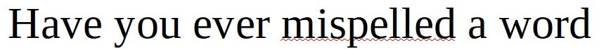 LibreOffice Underlines Misspelled Words